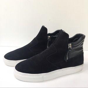 ZARA Black #1765 Sneaker Booties-Suede-EU37=US6.5